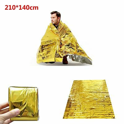 210*140CM Thermal Gold Sunscreen Emergency Blanket Aluminum Foil First Aid