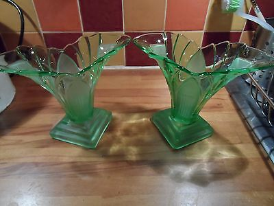 Pair of Art deco Walther flower vases
