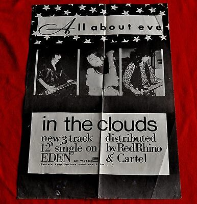 ALL ABOUT EVE - GENUINE 1986 poster (A3) 3rd single 'In the Clouds' Eden Records