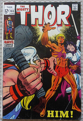 THOR #165, MARVEL SILVER AGE CLASSIC WITH 1st WARLOCK (HIM!)