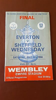 FA Cup Final 1966 Everton V Sheffield Wednesday - No Writing