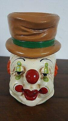 Clown Head Bust Signed Andreoli pre owned