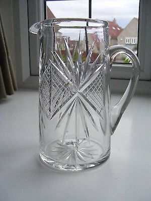 Vintage Cut Crystal Glass Jug