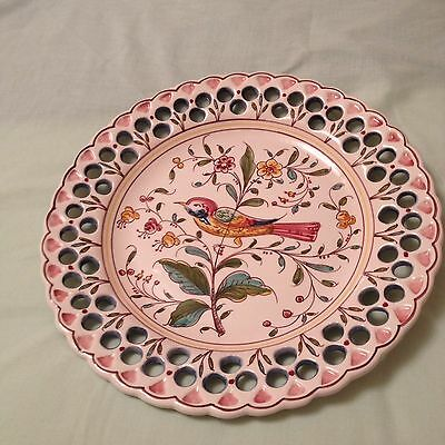 Hand Painted Plate Made In Portugal