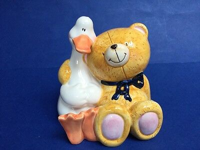Forever Friends Bear And Duck Moneybox.