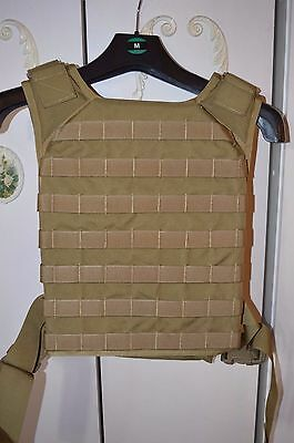 Flyye Fast Attack Tactical Molle Plate Carrier Khaki With Dummy Plates Size Larg
