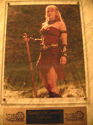 Xena Warrior Princess Renee O'Connor Signed Gabrielle Plaque one of a kind