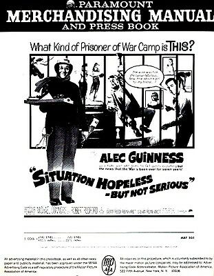 SITUATION HOPELESS BUT NOT SERIOUS pressbook, Alec Guiness, Robert Redford