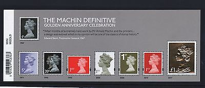 2017 MACHIN 50th ANNIVERSARY -MINI SHEET WITH THE £1 GOLD FOIL STAMP MINT