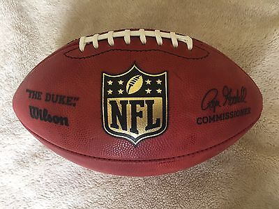 Official Wilson NFL Leather American Football Roger Goodall Signature Stamp Duke