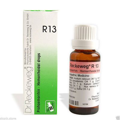 Dr Reckeweg Germany R13 Drops Homeopathic Medicine for Piles Hemorrhoids Fissure