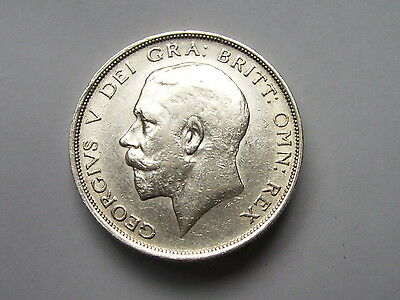 George V Hal;f Crown Dated 1915 Super High Grade