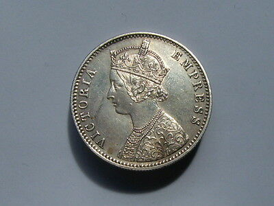 Victoria India Rupee Dated 1892  High Grade .917 Fine Silver