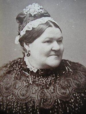 Carte de Visite photo - Victorian - Woman in beaded mourning cape - Newcastle