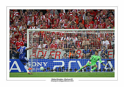 Didier Drogba Last Goal Chelsea Fc Photo A4 Print Photo Champions League 2012
