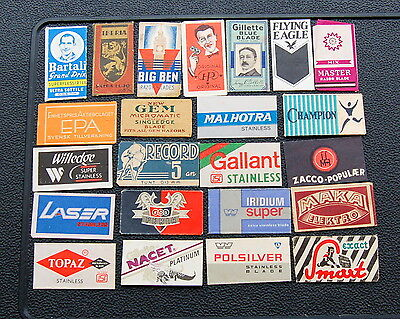 23 lovely old Razor Blade wrappers.... # 13