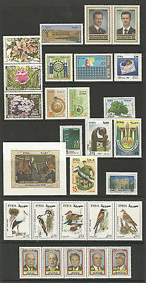 Syria, Complete Year Sets 2007, According To SG. Cat. & As Per Scan, MNH.