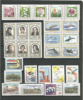 Syria, Complete Year Sets 2011, According To SG. Cat. & As Per Scan, MNH.