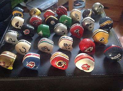 Scratch Built & Painted NFL Team HELMETs approx 4cms x 28 teams
