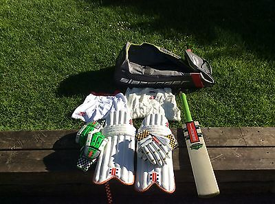 Boys Cricket Bundle, Bag And Cricket Bat, Pads, Gloves