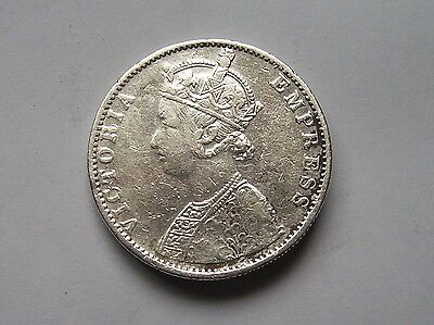 Victoria India Rupee Dated 1886  High Grade .917 Fine Silver