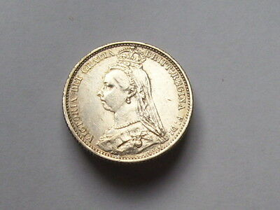 victoria sixpence dated 1887 super high grade