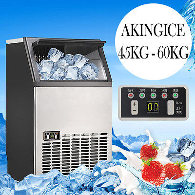 Commercial 45~60KG/Day Ice Maker Portable Cube Machine Auto Snow Home Business