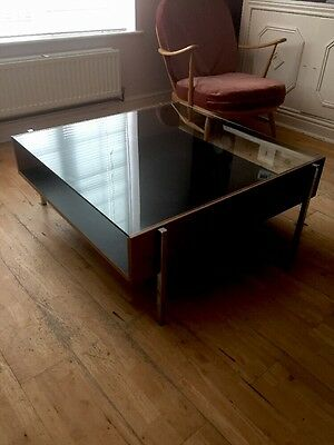 Robin Day  Forum Habitat oak coffee table Chrome legs
