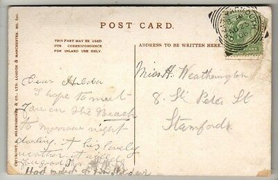 Square Circle Postmark - Great Yarmouth - 1906 - KEVII - PC North Beach & Tower