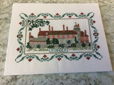 Standen House completed cross stitch
