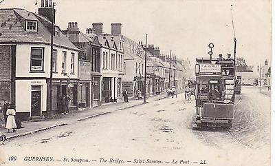 Guernsey - Ll 196 - Saint Sampson - The Bridge - Showing Tram And Shopfronts