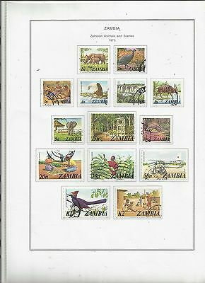 ZAMBIA. 1975 .226/39. Animals and Scenes. Used .