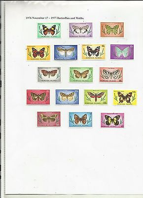 Norfolk Island - 1976 - Butterflies & Moths -Mint Hinged.