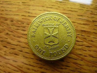 £1 'St John' 1988 Bailiwick of Jersey Channel Islands Pound Coin 10,000 Minted