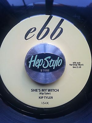 "Kip Tyler 45 Re ""she's My Witch/rumble Rock"" Awesome Cult Moody Rocker  ♫Listen♫"