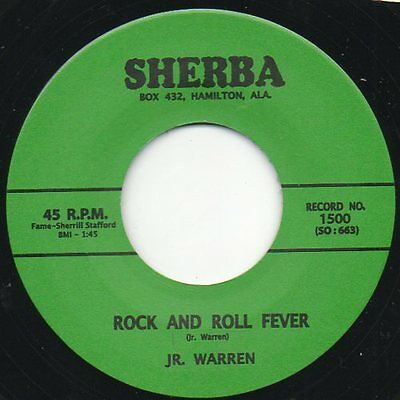 Jr Warren 45 Re - Rock & Roll Fever/i Gotta Keep Moving - Great Rocker ♫Listen♫