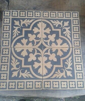 Rare A.W.N.Pugin Gothic Revival Minton & Co Encaustic Tile Set of 4