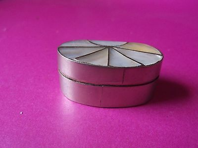 Small Mother Of Pearl Pill Box