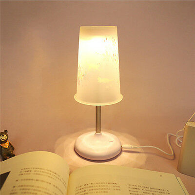 LED Table Lamp Computer Desk Reading Bedside Light  USB / Battery Power Lamps