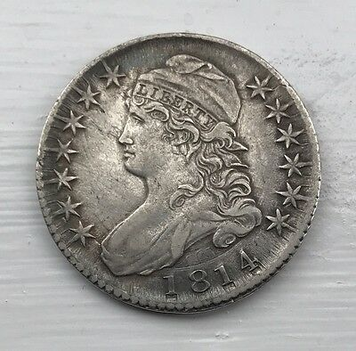 USA silver 50 cents dated 1814