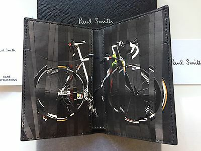 Paul Smith '9 Bikes' Card Holder Wallet - Black Leather