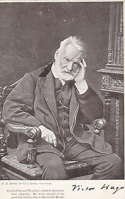 Victor Hugo - Guernsey -  Printed Photographic Portrait Postcard By Banks
