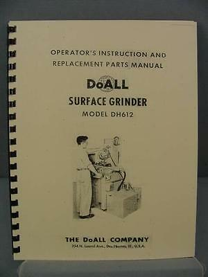 DoAll DH-612 Surface Grinder Instruction & Parts Manual