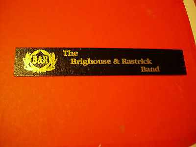 Leather Bookmark -The Brighouse & Rastrick Brass Band - vgc
