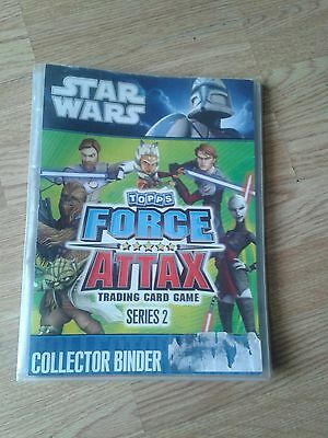 Star Wars Topps Force Attax Series 2 Book With 76 Cards