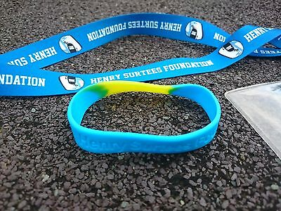 Henry Surtees Foundation Lanyard, Ticket Holder And Silicon Wristband - New