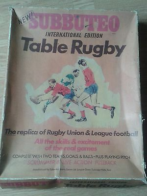 Vintage Subbuteo Table Rugby International