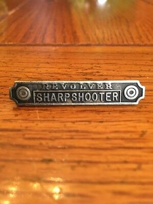 WWI US Army Revolver Sharpshooter Sterling Silver Pin