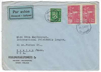 1946 Finland To USA Business Airmail Cover  (MM27)
