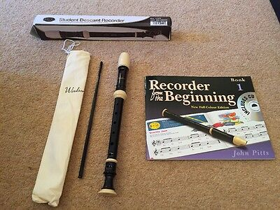 Student Descant Recorder With Book